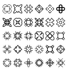 Set of geometric simple forms suits for swatches vector