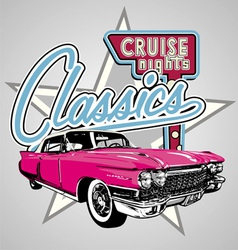 Classic cruise Night vector image