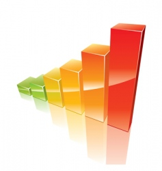 colored 3d graph vector image vector image