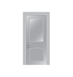 door on a white background vector image