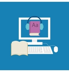 Elearning online education vector image