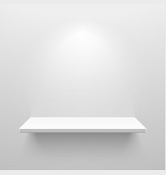 Empty white shelf for exhibit vector image vector image