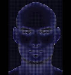 face halftone glowing vector image vector image