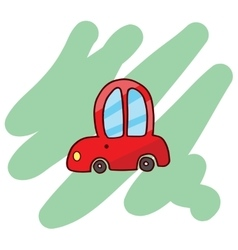 Funny red car T-Shirt vector image vector image