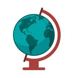 globe world map icon vector image