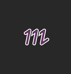 Letter M logo hipster monogram design element vector image vector image
