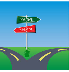 positive and negative concept vector image vector image
