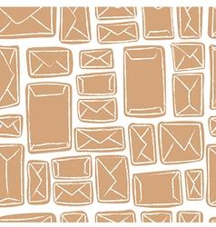 seamless pattern - many craft envelopes vector image