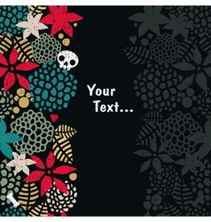 Foliage with skull background vector image