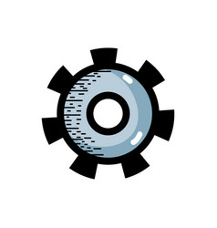 industry gear process to technical engine vector image vector image