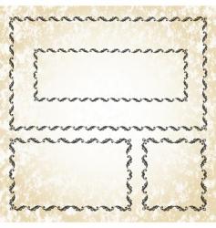 leaf frame set vector image