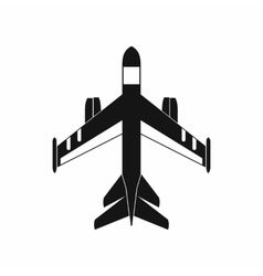 Military fighter jet icon simple style vector image