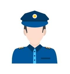 Police Man vector image