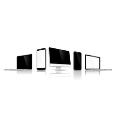 Set of modern devices vector image