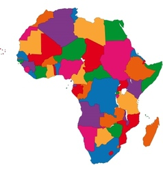 Colorful Africa map vector image vector image