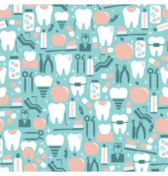 Dental Care Graphics on Blue Background vector image vector image