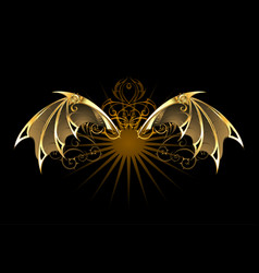 mechanical dragon wings vector image vector image