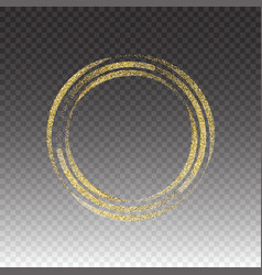 round frame gold glittering star dust vector image vector image