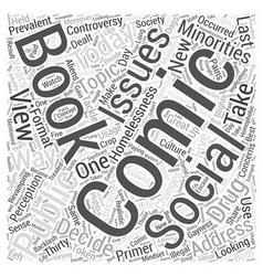 Social issues in comic books Word Cloud Concept vector image vector image