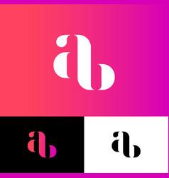 A and b monogram original symbol illusion vector
