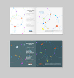 abstract technology brochure with dots and vector image