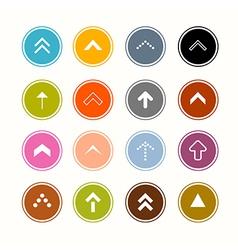 Arrows Set in Circles vector image
