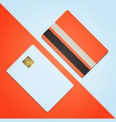 bank credit card mockup blank template icon design vector image