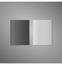 blank book cover in white and dark variant vector image
