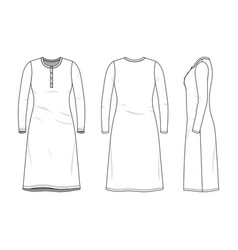 Blank clothing templates vector