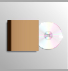 Brown cd case vector