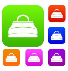 carpetbag set color collection vector image