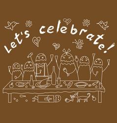 celebrate vector image