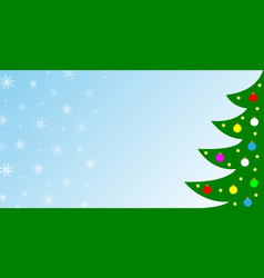 christmas card background banner vector image
