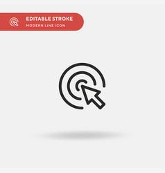 click simple icon symbol vector image