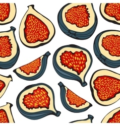 Colorful seamless pattern with figs vector
