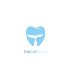 Dental ocean logo vector