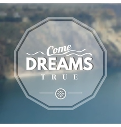 Dream logo vector image