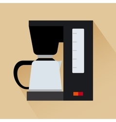 Espresso coffee machine icon vector