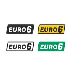 Euro 6 symbol vector