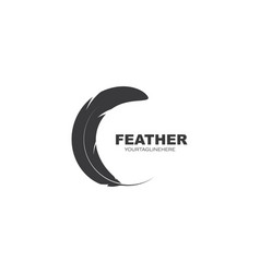 Feather icon template vector