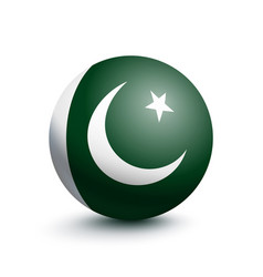 flag of pakistan in the form of a ball vector image