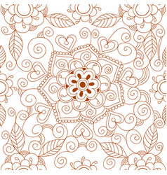 floral mehendi pattern ornament vector image