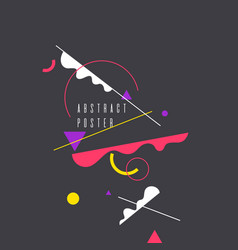 geometric poster with different shapes modern vector image