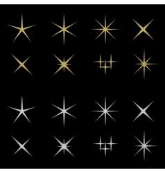Golden and silver sparkles vector