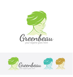 green beauty logo design vector image