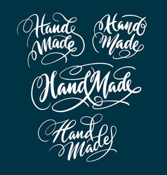 hand made hand written typography vector image