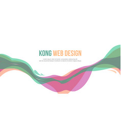Header website abstract design colorful style vector