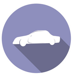 icon car with a long shadow vector image