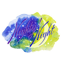 inscription nighty night vector image