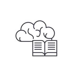 intellectual information line icon concept vector image